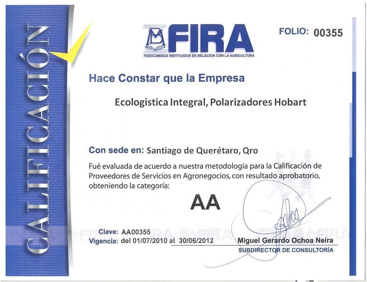 Certificaciones Agua sin Sarro 3